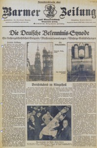 Sonderdruck der Barmer Zeitung vom 1. Juni 1934